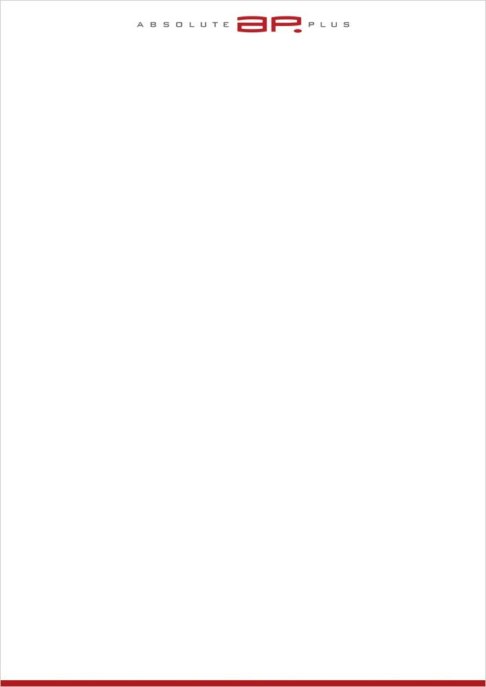 Print Design | Briefpapier | Offset-Druck | absolute plus GmbH, München | Konzeption, Design und Druckabwicklung