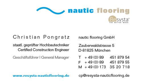 Print Design | Visitenkarte | nautic flooring GmbH, München | Konzeption, Design und Druckabwicklung