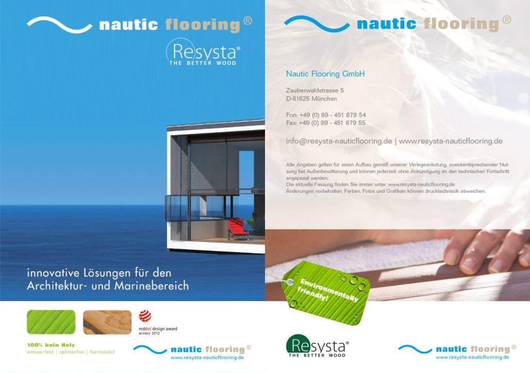 Print Design | Booklet | Produktbroschüre nautic flooring GmbH, München | Konzeption, Design und Druckabwicklung