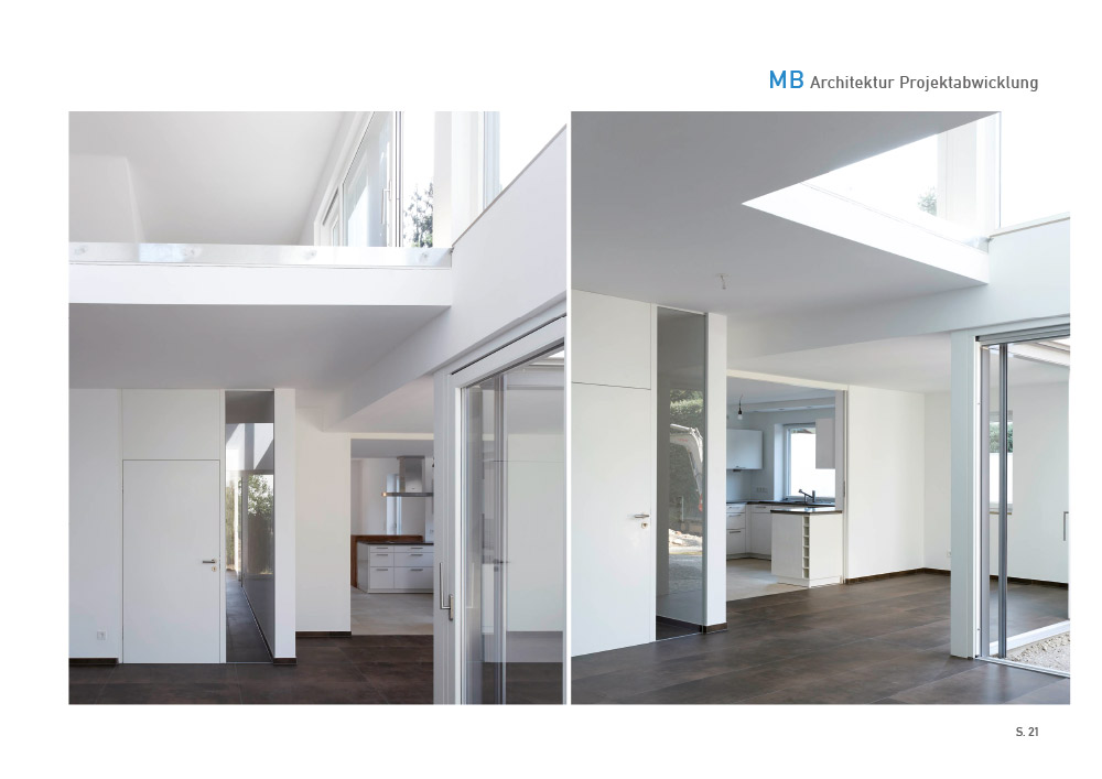 Print Design | Portfolio | MB Architektur | Architekturbüro, München | Printvorlage und Webversion | Konzeption, Design und Druckabwicklung