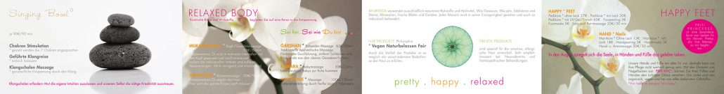 Print Design | Flyer Leporello | cocoon . pretty . happy . relaxed | Kosmetikstudio, Ingolstadt | Design und Druckabwicklung