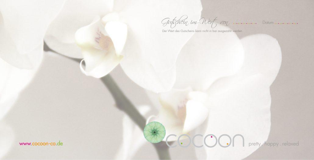 Print Design | Flyer Gutschein | cocoon . pretty . happy . relaxed | Kosmetikstudio, Ingolstadt | Design und Druckabwicklung