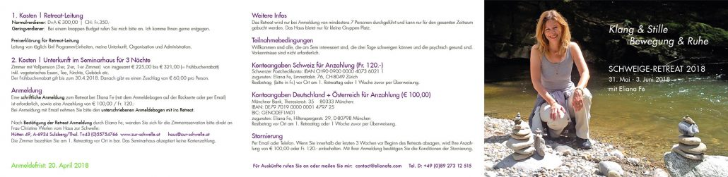Print Design | Flyer Leporello | Seminar | Eliana Fe, München | Design und Druckabwicklung