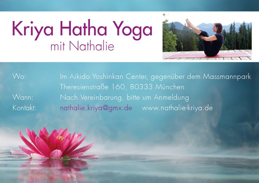 Print Design | Flyer | Kriya Hatha Yoga | Yoga, München | Design und Druckabwicklung