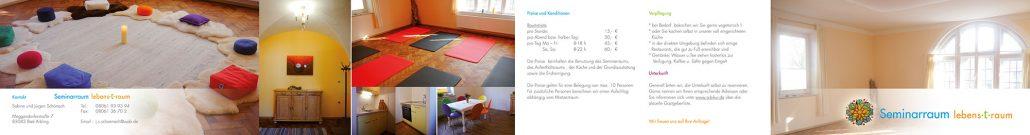 Print Design | Flyer Leporello | seminar(t)raum | Seminarraum, Bad Aibling | Design und Druckabwicklung