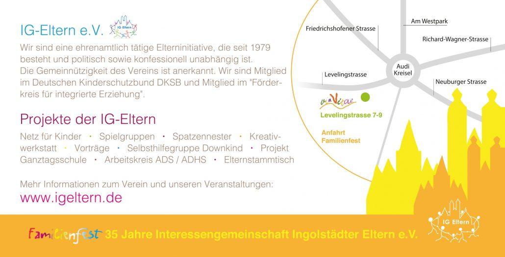 Print Design | Flyer | IG Eltern e.V., Ingolstadt | Design und Druckabwicklung