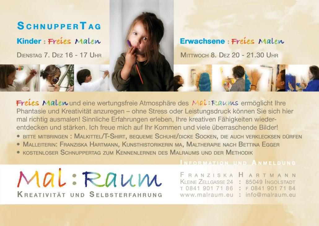 Print Design | Flyer | Mal:Raum, Ingolstadt | Design und Druckabwicklung
