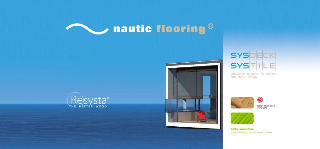 Print Design | Roll-Out Messestand | nautic flooring GmbH, München | Konzeption, Design und Druckabwicklung