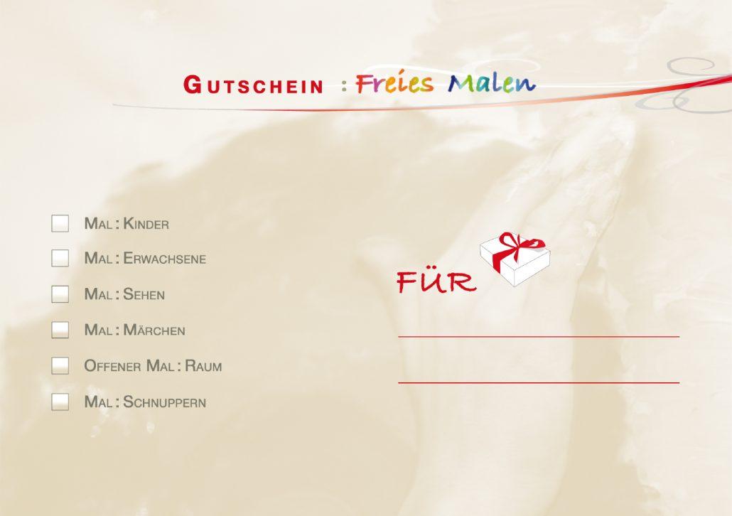 Print Design | Flyer | Gutschein | Mal:Raum, Ingolstadt | Design und Druckabwicklung