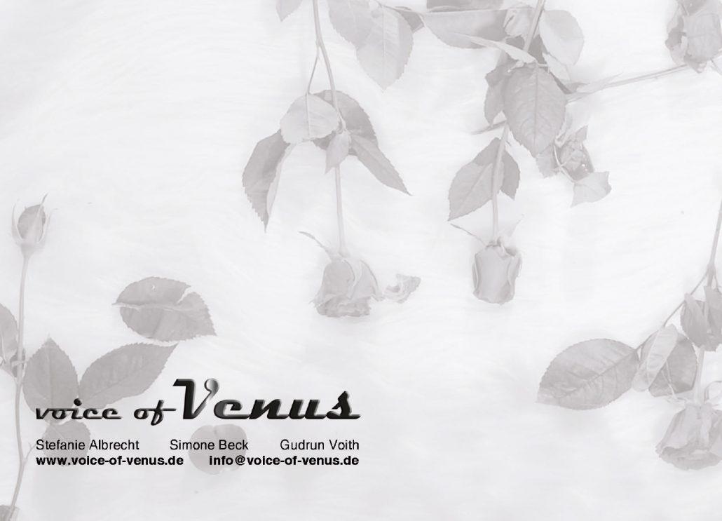 Print Design | Flyer | Label 'voice of venus' | Design und Druckabwicklung