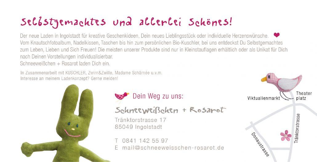 Print Design | Flyer | Schneeweißchen + Rosarot, Ingolstadt | Design und Druckabwicklung