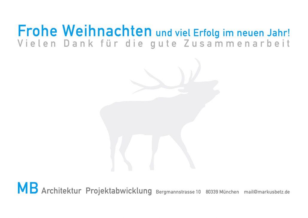 Print Design | Flyer | Weihnachtskarte | MB Architektur | Architekturbüro, München | Design und Druckabwicklung