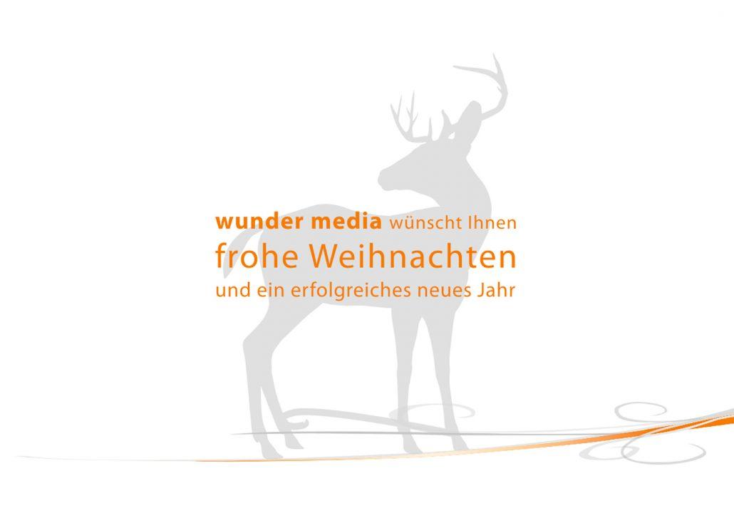 Print Design | Flyer | Weihnachtskarte | wundermedia GmbH, München | Design und Druckabwicklung