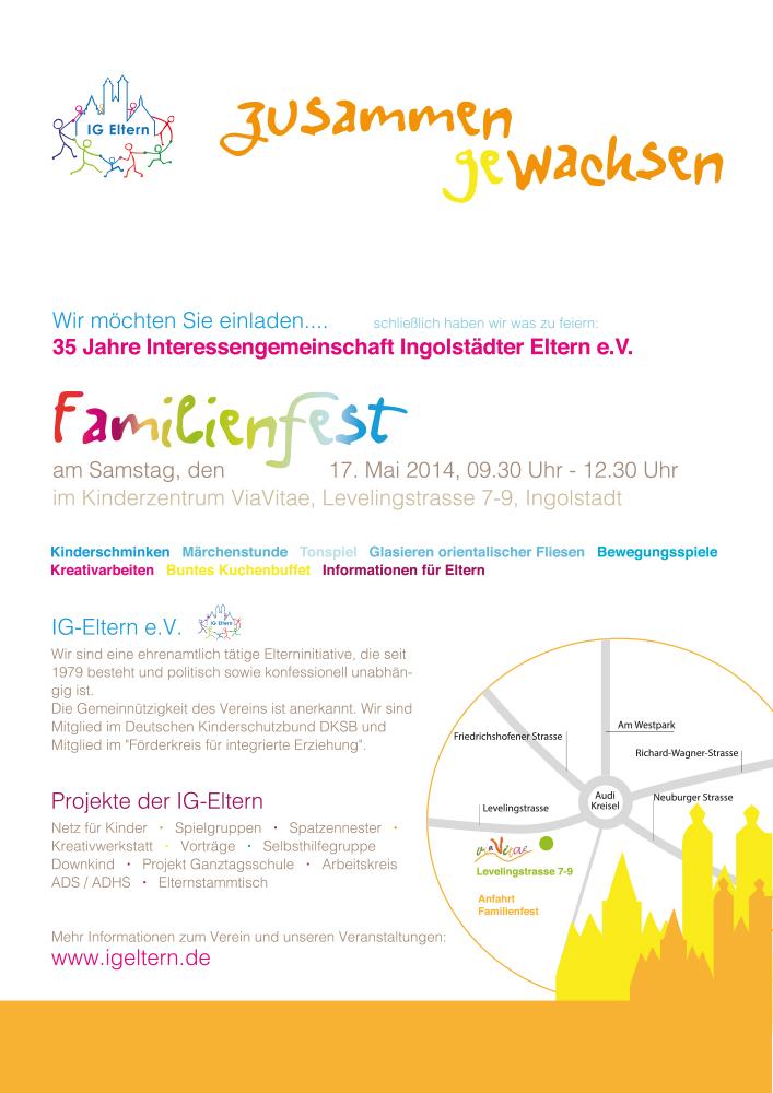 Print Design | Plakat | IG Eltern e.V., Ingolstadt | Design und Druckabwicklung