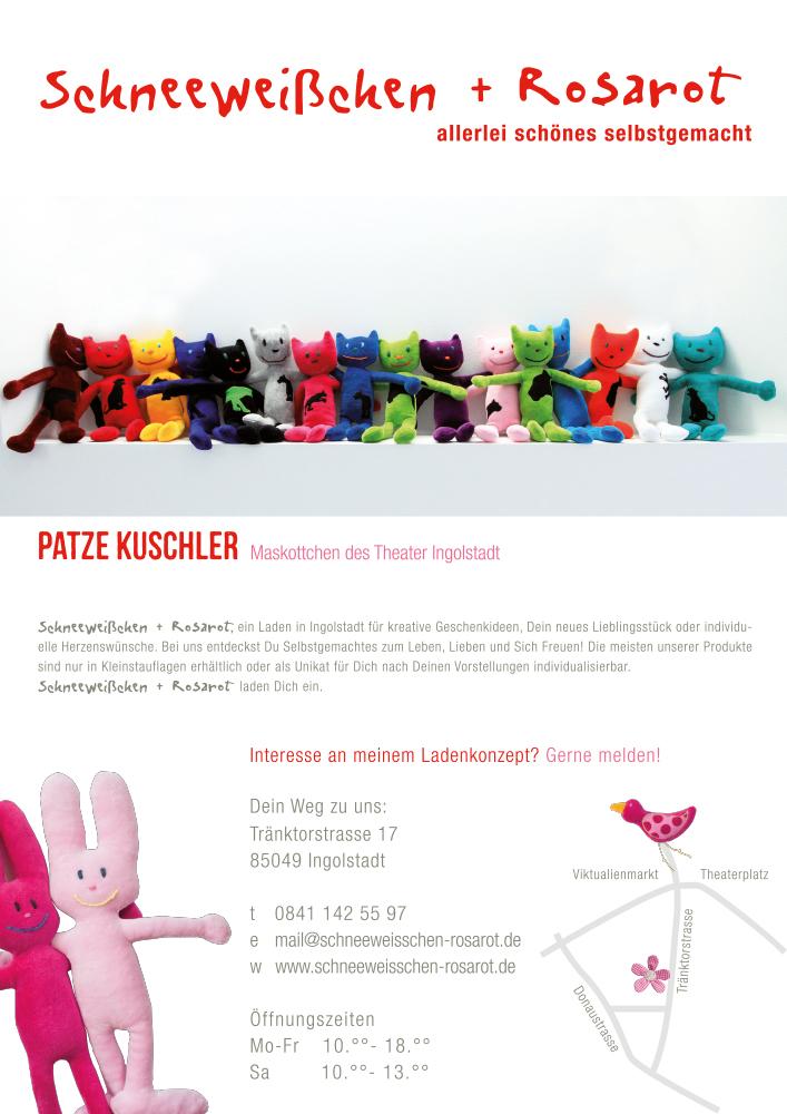 Print Design | Plakat | Schneeweißchen + Rosarot, Ingolstadt | Design und Druckabwicklung
