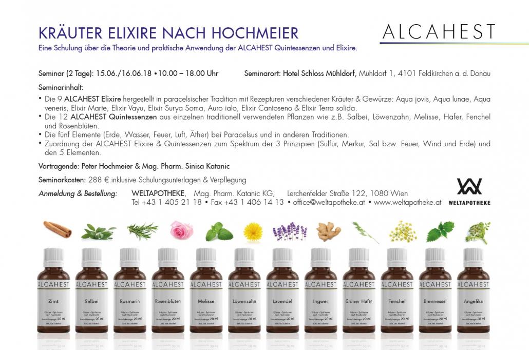 Print Design | Anzeige | Seminar | Alcahest GmbH, München | Design und Druckvorlage