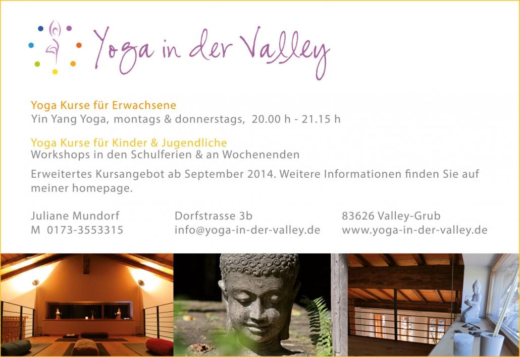 Print Design | Anzeige | Yoga in der Valley | Yoga, Valley-Grub | Design und Druckvorlage
