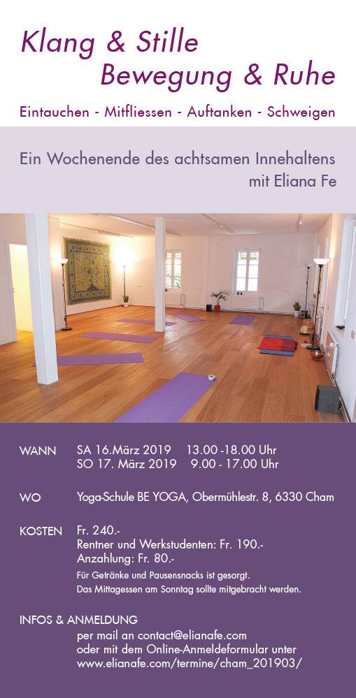 Print Design | Flyer | Seminar | Eliana Fe, München | Design und Druckabwicklung