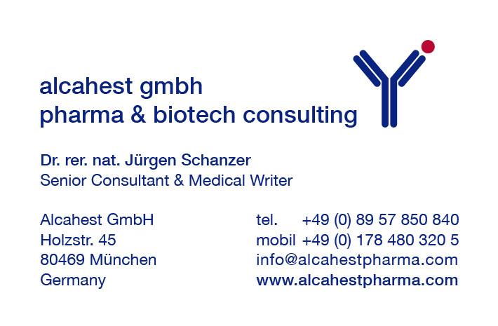 Print Design | Visitenkarte | Alcahest GmbH, München | Design und Druckabwicklung