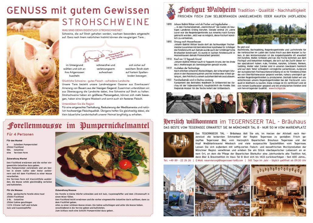 Print Design | Zeitung | Weichandhof, München | Design und Druckabwicklung