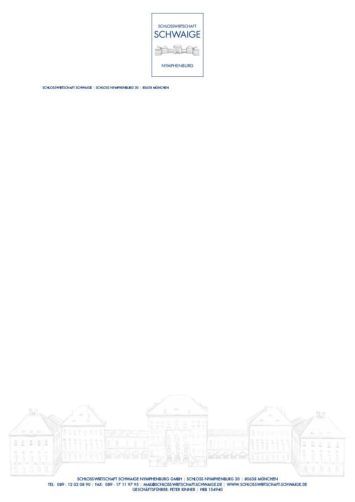 Print Design | Briefpapier | Printvorlage | Restaurant Schlosswirtschaft Schwaige, München | Design und Druckabwicklung