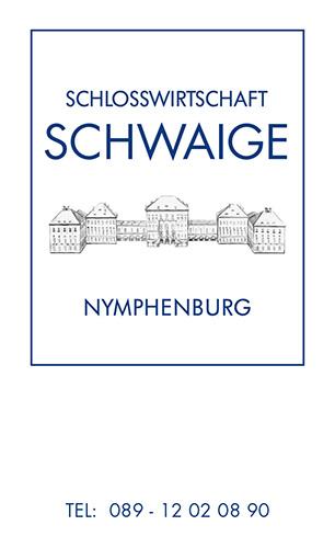 Print Design | Visitenkarte | Restaurant Schlosswirtschaft Schwaige, München | Design und Druckabwicklung